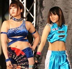 Saori Anou (L) and Hiromi Mimura (R) http://hubpages.com/sports/japan-women-wrestling  #Joshipuroresu #Wrestling