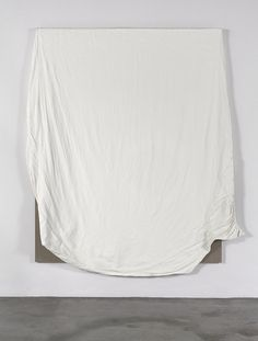 ANALIA SABAN | California King Fitted Bed Sheet with Broken Elastic 2012 Acrylic on Canvas