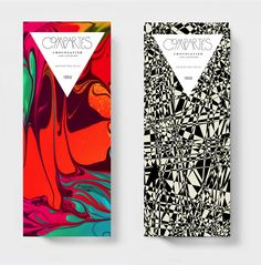 Kyle Poff's vibrant packaging for Compartes Chocolatiers..