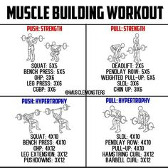 25 Best push pull workout routine images in 2018 | Workout