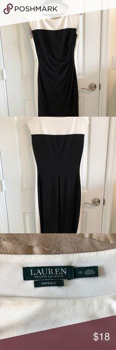 Ralph Lauren Midi Black and White Dress Ralph Lauren Midi Black and White Dress Lauren Ralph Lauren Dresses Midi