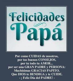 Felicitaciones bonitas para el día del padre