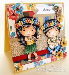 Hula girl & boy