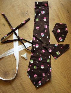 make or repair a zipper necktie . . .