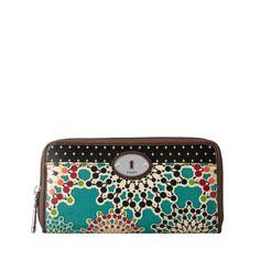 FOSSIL® Wallets Checkbook Wallets:Women Key-Per Zip Clutch SL4010