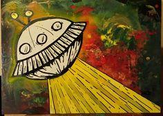 Ufo... Acrilico su legno