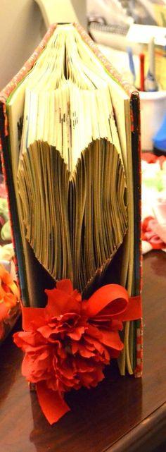 Heart Folded Book Art, Anniversary, Girlfriend Boyfriend, Love, Valentine,