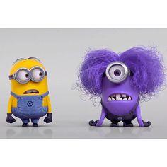 Despicable Me 2 Purple Minion vs Minion Video found on Polyvore featuring polyvore, minion and pictures