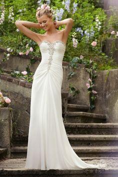 2013 Wedding Dresses Sheath/Column Sweetheart Sweep/Brush Train Sweetheart