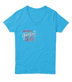 Ladies Birthday Shirt, 60th Birthday Tee Aquatic Blue  T-Shirt Front