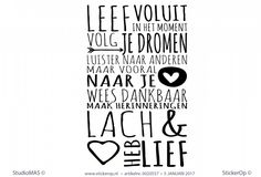 Muursticker quote - Leef voluit