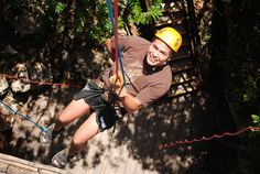 First time rappel for my beau at Aventuras Mayas!