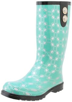 Pretty Teal Women's Funky Rain Boots will look great taking you to work every day. These will match outfits you already have. Beat the rainy day blues with the perfect Women's Funky Rain Boot!