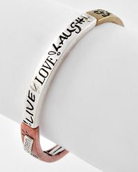 Checkout this amazing deal New Tri-tone Metal Message Stretch Bracelet Includes Bookmark,$11.95