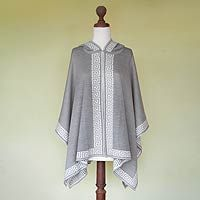 100% alpaca hooded ruana, 'Inca Gray' by NOVICA - Absolutely gorgeous!