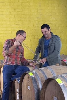 Adam Mason and Peter Tempelhoff from Marvelous - and Yardstick wines. Wines