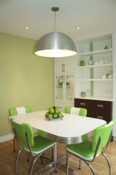 find this pin and more on kitchen kitsch - Green Kitchen Table