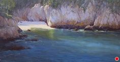 Bluefin Cove by Kathleen Dunphy Oil ~ 18 x 36