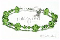 Cerebral Palsy Awareness Swarovski Bicone Crystal Bracelet - Sparkle & Support LLC