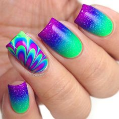 Tie dye cuteness with gradient! So hip! Instagram media by chorubim  #nail #nails #nailart