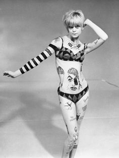 """Sock it to me!"" Goldie Hawn in her break-out role on ""Rowan & Martin's Laugh-In, a ground-breaking, hilarious show that ran from 1967 to 1973."