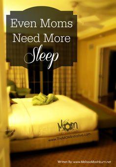 Why Moms Need More Sleep