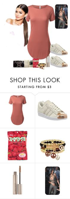 """""""Instagram:@NWA.Yeezus"""" by madam1170ma ❤ liked on Polyvore featuring adidas, sOUP and Laura Mercier"""