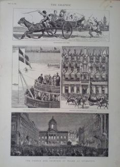1881 PRINT LIVERPOOL SCENES DURING A ROYAL VISIT