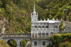 SANCTUARY OF LAS LAJAS, COLOMBIA The church is located in Ipiales, was constructed between 1916 and 1949.