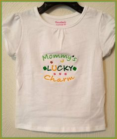 Mommy's Lucky Charm Puff Sleeve Girl's Tshirt St