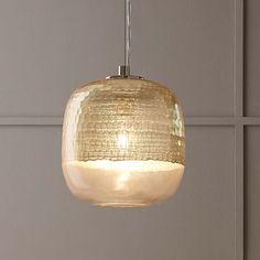 Metallic Honeycomb Glass Pendant - Round #westelm
