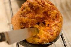 Bacon and Cheddar Cheese Popovers....dough can be made 3 days ahead, finished product can be frozen