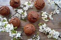 Pełnoziarniste babeczki czekoladowe z płatków owsianych