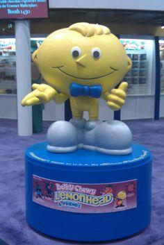 Lemonhead Statue #loupagano Ferrara Pan, High Voltage, Random Things, Candy, Statue, Character, Random Stuff, Sweets, Candy Bars