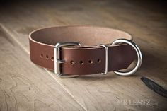 Leather Dog Collar dogs 40 to 90 lbs.  Large Dog Collar