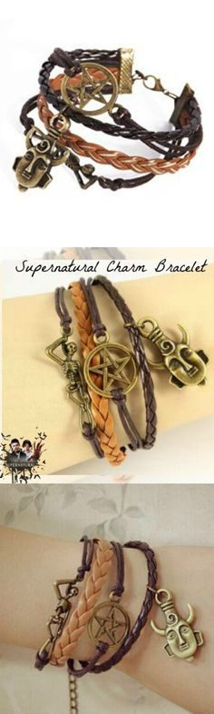 Supernatural Charm Bracelet! Click The Image To Buy It Now or Tag Someone You Want To Buy This For.  #Supernatural