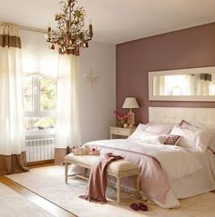 40 Romantic And Tender Feminine Bedroom Design Ideas For Valentine Day are really stylish kits, soaked in incredible taste and love for home decoration. Mauve Bedroom, Feminine Bedroom, Bedroom Colors, Dream Bedroom, Home Bedroom, Bedroom Decor, Bedroom Ideas, Bedroom Neutral, Pretty Bedroom