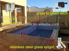 2205 Stainless Steel Spigot Glass Pool Deck Spigots Balustrade Fence OCTAGON