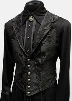 Aristokrat Weste - schwarzer Teppich - The Witch - Anime Outfits, Cool Outfits, Fashion Outfits, Men's Fashion, Latex Fashion, Casual Male Outfits, Fashion Shirts, Fashion Black, Cheap Fashion
