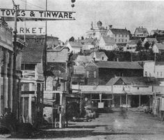 1st Ave. S. looking north from Main St., Seattle, ca. 1875 :: Asahel Curtis Photo Company Photographs