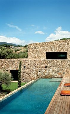 The swimming pool of Karl Fournier and Olivier Marty's home in Corsica.