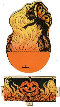 1923 Beistle Large Fairy and Cauldron Two-Piece Nut Cup