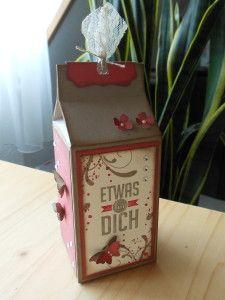 Milchkarton XXL, hergestellt mit dem neuen Stanz- und Falzbrett für Geschenktüten - von Stampin' Up!