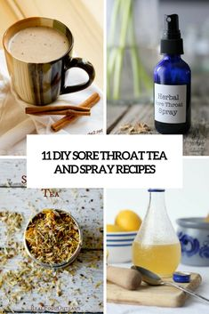 diy sore throat tea and spray recipes cover