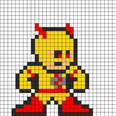 Lex_luthor_perler_bead_pattern by on Kandi Patterns Perler Beads, Perler Bead Emoji, Perler Bead Art, Pony Bead Patterns, Kandi Patterns, Perler Patterns, Beading Patterns, Superman, Batman
