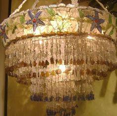 seaglass chandelier