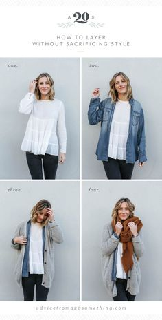How to Layer without Sacrificing Style - Fall Shirts - Ideas of Fall Shirts - how to layer without sacrificing style outfit layering ideas white blouse chambray shirt oversized cardigan Free People Urban Outfitters rust colored scarf fall outfit ideas Cardigan Style, Cardigan Outfits, Gray Shirt Outfit, Oversized Cardigan Outfit, White Cardigan Outfit, Cardigan Fashion, Long Cardigan, Style Couture, Haute Couture Fashion