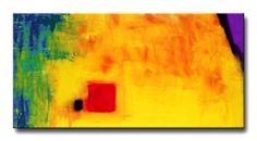 Buy Abstract Art Yellow Painting Red by BuyArtSharonCummings, #yellow #art $620.00