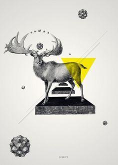elk in geometric majesty