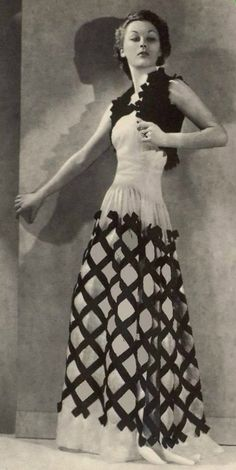 L'art et la mode, Juillet 1937, Gown by Paquin #1930sfashion